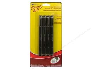 Weekly Specials DecoArt Glass Paint Marker: Loew Cornell Simply Art Fine Line Markers 4pc