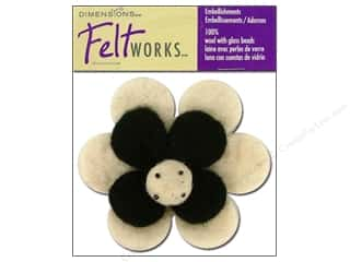 Dimensions Feltworks 100% Wool Felt Posy Flower