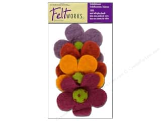 Flowers / Blossoms Wool Felting Supplies: Dimensions Feltworks 100% Wool Felt Embellishment Crazy Daisies