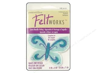 Dimensions Dimensions Applique Kit: Dimensions Feltworks Needle Felting Kits Applique Butterfly