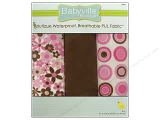 Fabric Dritz Babyville Boutique PUL Fabric: Dritz Babyville Boutique PUL Fabric 3 pc. Mod Girl Flowers & Dots