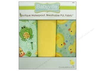 Aida Bibs / Fabric Bibs Blue: Dritz Babyville Boutique PUL Fabric 3 pc. Playful Pond & Ducks