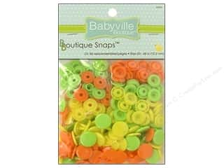 Babyville by Prym/Dritz Orange: Dritz Babyville Boutique Snaps 1/2 in. Green, Yellow & Orange 60 pc.