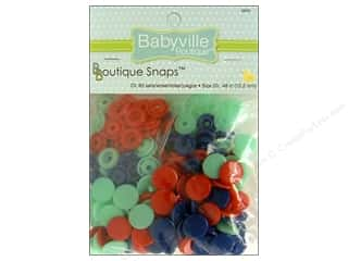 Dritz Babyville Boutique Snaps 1/2 in. Red, Blue & Light Blue 60 pc.