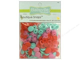 Babyville by Prym/Dritz: Dritz Babyville Boutique Snaps 1/2 in. Sweet Stuff Heart 60 pc.