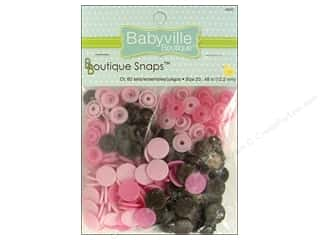 Dritz Babyville Boutique Snaps 1/2 in. Mod Girl Flowers 60 pc.