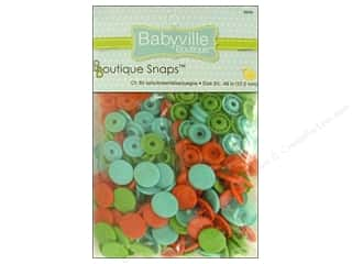 Babyville by Prym/Dritz Green: Dritz Babyville Boutique Snaps 1/2 in. Playful Pond 60 pc.