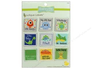 Dritz Babyville Boutique Labels 9 pc. Boy Designs