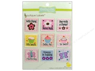 Dritz Babyville Boutique Labels 9 pc. Girl Designs