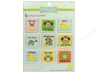 Babyville by Prym/Dritz Orange: Dritz Babyville Boutique Labels 9 pc. Gender Neutral Designs