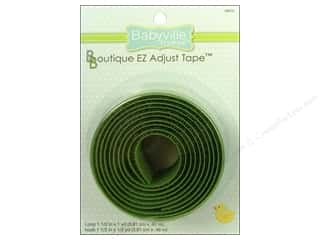 Babyville by Prym/Dritz Green: Dritz Babyville Boutique EZ Adjust Hook & Loop Tape 1 1/2 in. Green