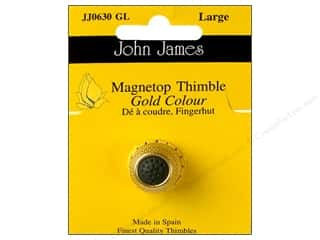 John James: John James Magnetop Thimble Gold Large Gold