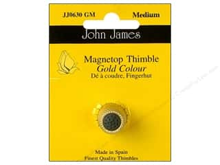 Weekly Specials Quilting Rulers: John James Magnetop Thimble Gold Medium Gold