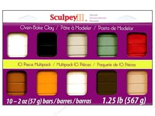 Clay Brown: Sculpey III Clay Multipack 10 pc. Naturals