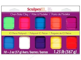 Clay & Modeling $10 - $61: Sculpey III Clay Multipack 10 pc. Bright Ideas