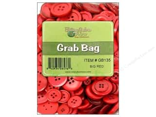 Buttons: Buttons Galore Grab Bag 6 oz. Big Red