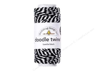 Cording Cotton Lacing Cord: Doodlebug Doodle Twine 20 yd. Beetle Black