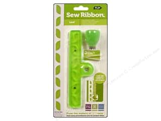 We R Memory Sew Ribbon Tool & Stencil Leaf