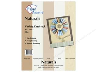 Scrapbooking $8 - $15: Cardstock Variety Pack 8 1/2 x 11 in. Naturals 15 pc. by Paper Accents