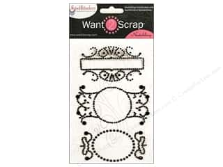 Want2Scrap Sticker Spellbinders Fancy Tags 3 Black