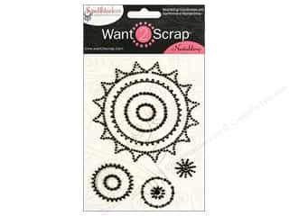 Spellbinders Stickers: Want2Scrap Sticker Spellbinders Sprockets Black