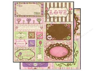 Bo Bunny Paper 12x12 Cut Outs Smoochable (25 sheets)