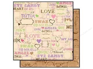 Everything You Love Sale Graphic 45 Paper Pad: Bo Bunny Paper 12x12 Smoochable Love Spell (25 sheets)