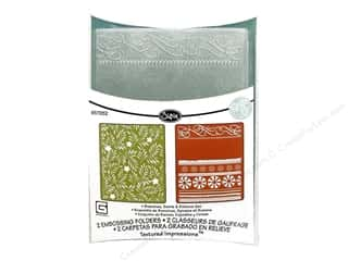 Sizzix Emboss Folder BG TI Branchs Swirls &amp; Ribbon