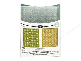 Sizzix Emboss Folder BG TI Flowers Pears & Lattice