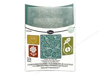 Sizzix Emboss Folder BG TI Flower Owl & Pear