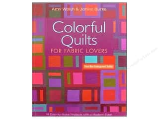 Workman Publishing $10 - $12: C&T Publishing Colorful Quilts Book by Amy Walsh and Janine Burke