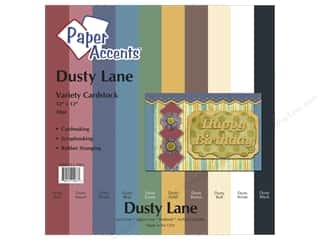 "Paper Accents Cardstock Variety Pack 12""x 12"" Dusty Lane 10pc"