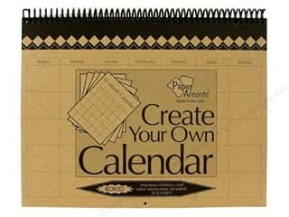 Plaques & Decorative Signs Holiday Gift Ideas Sale: Paper Accents 12 Month Calendar 8 1/2 x 11 in. Brown Bag