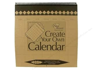 Plaques & Decorative Signs Holiday Gift Ideas Sale: Paper Accents 12 Month Calendar 12 x 12 in. Brown Bag
