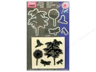 Sizzix Framelits Die Set with Stamps Fern 5pc