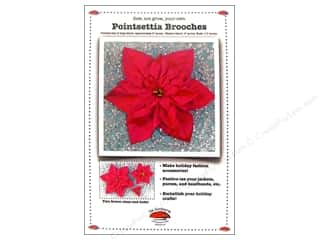 Purse Making Family: La Todera Poinsettia Brooch Pattern