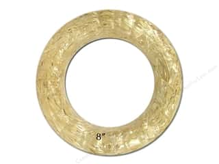 Floral Arranging Weekly Specials: FloraCraft Straw Wreath 8 in. Clear Wrap