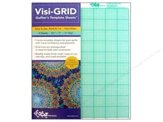 C&T Publishing Notions Visi Grid Quilter's Template Sheets 8.5x11 4pc