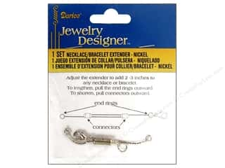 Bracelets Length: Darice Jewelry Designer Clasps Necklace/Bracelet Extender Nickel