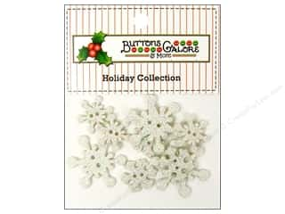 Buttons Galore Theme Christmas Frosty Flake
