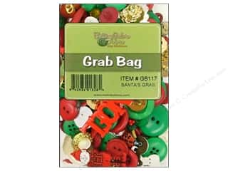 button: Buttons Galore Grab Bag 6 oz. Santa