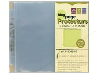 "Organizers $6 - $10: We R Memory Page Protectors Ring 6""x 6"" 10pc"