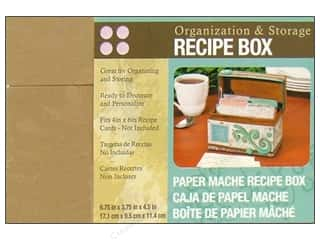Organizers $3 - $6: Darice Paper Mache Recipe Box 6 3/4 x 3 3/4 x 4 1/2 in.