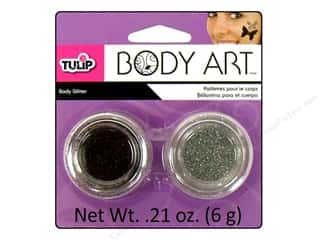 Tulip Body Art Glitter Black & Silver