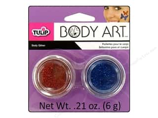 Tulip Body Art Glitter Blue & Red