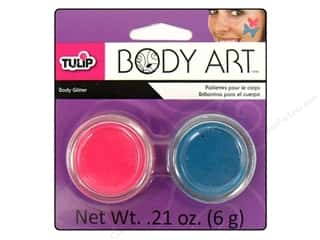 Tulip Body Art Glitter Neon Pink &amp; Aqua
