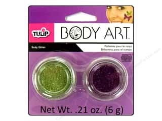 Tulip Body Art Glitter Green & Purple