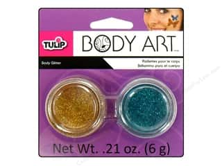 Tulip Body Art Glitter Gold &amp; Blue