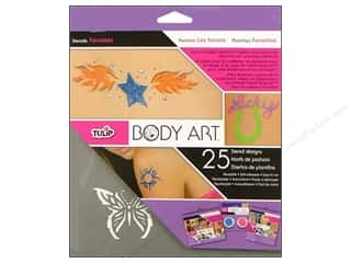 Glitter Love & Romance: Tulip Body Art Stencil Designs Favorites