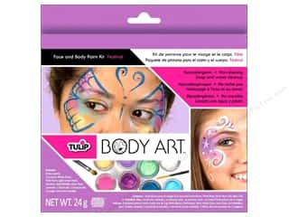 Weekly Specials Martha Stewart Stencils: Tulip Body Art Kit Face & Body Paint Festival